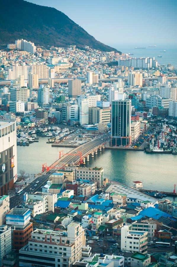 Paisaje urbano de Busán imágenes de archivo libres de regalías