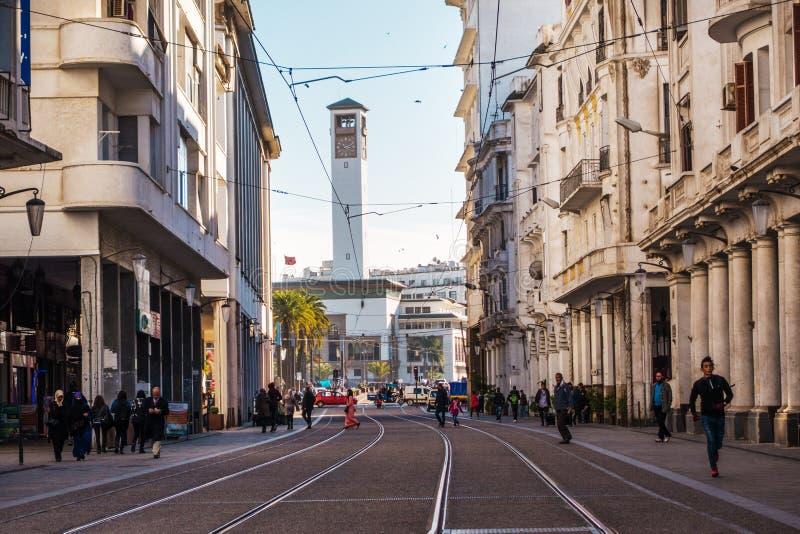 Paisaje urbano de Casablanca - Marruecos imagen de archivo libre de regalías