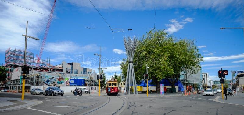 Paisaje urbano de Christchurch, Nueva Zelanda imagenes de archivo