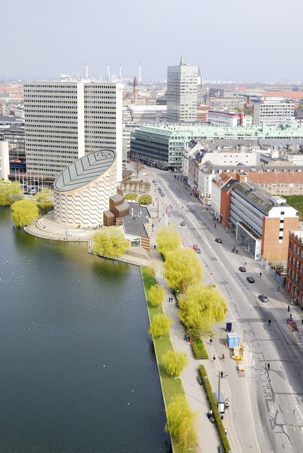 Paisaje urbano de Copenhague fotografía de archivo