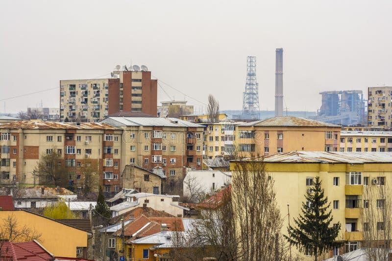 Paisaje urbano de Craiova desde arriba fotos de archivo libres de regalías