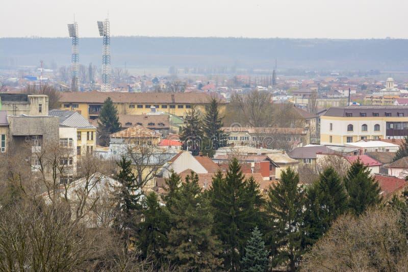 Paisaje urbano de Craiova desde arriba imagen de archivo