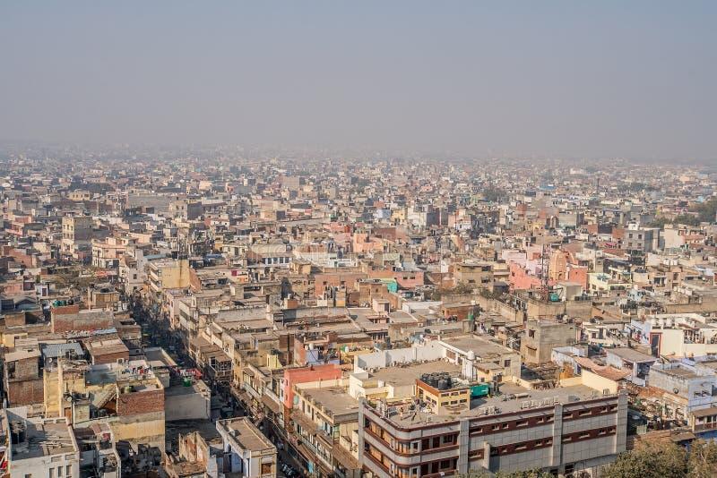 Paisaje urbano de Delhi vieja en la India fotografía de archivo libre de regalías