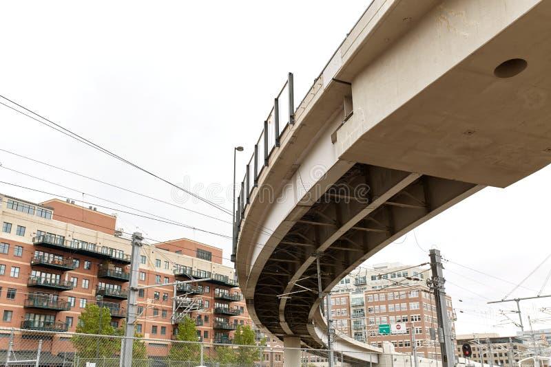 Paisaje urbano de Denver c?ntrica, Colorado imágenes de archivo libres de regalías