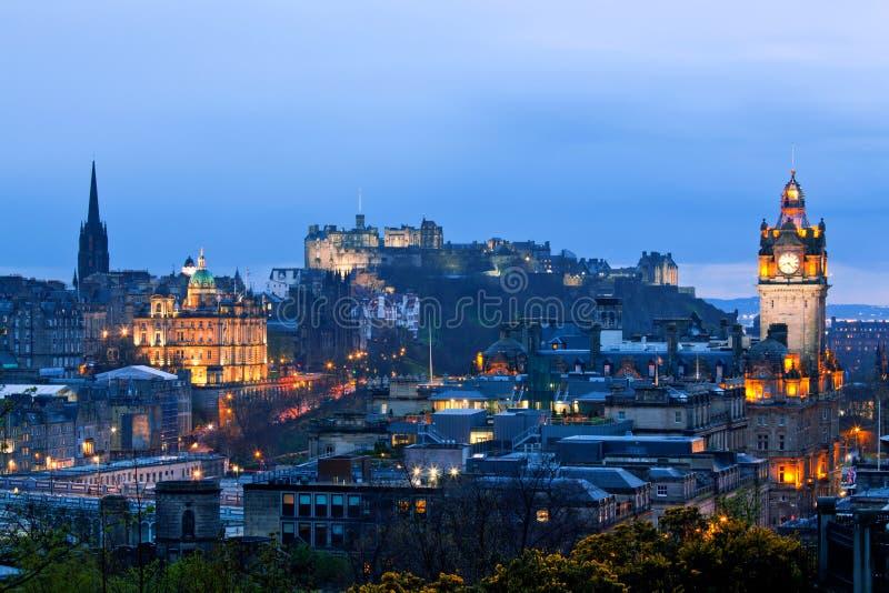 Paisaje urbano de Edimburgo Escocia fotos de archivo