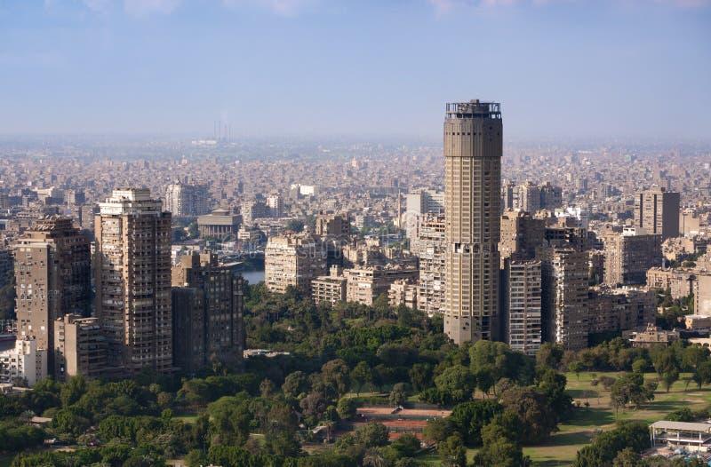 Paisaje urbano de El Cairo fotografía de archivo