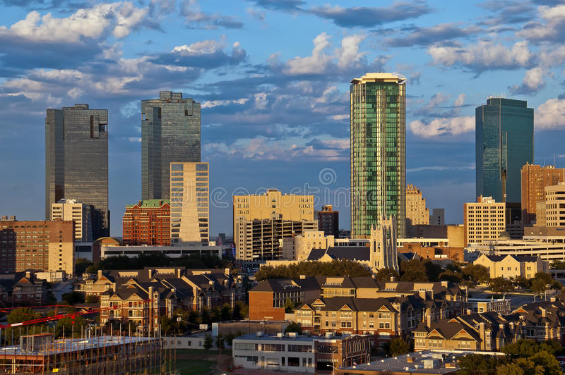 Paisaje urbano de Fort Worth Tejas foto de archivo libre de regalías