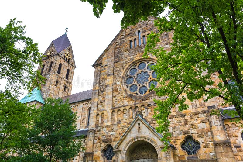 Paisaje urbano de Gelsenkirchen Alemania fotos de archivo