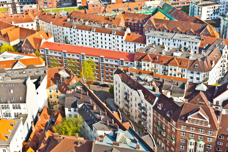 Paisaje urbano de Hamburgo de fotografía de archivo libre de regalías
