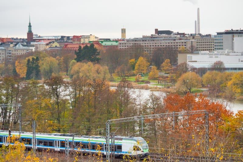Paisaje urbano de Helsinki, Finlandia fotos de archivo