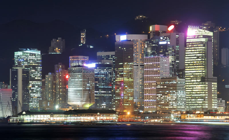 Paisaje urbano de Hong-Kong fotografía de archivo