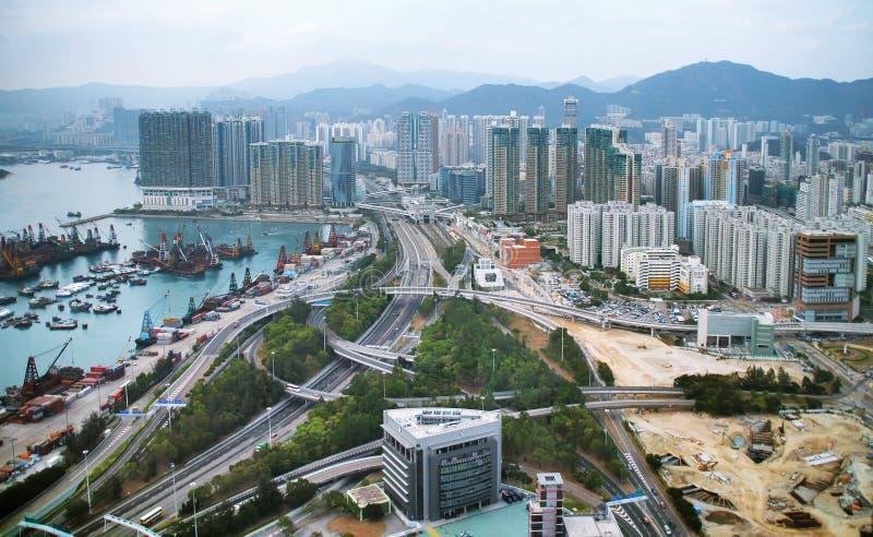 PAISAJE URBANO DE HONG-KONG fotos de archivo libres de regalías