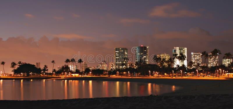Paisaje urbano de Honolulu foto de archivo libre de regalías