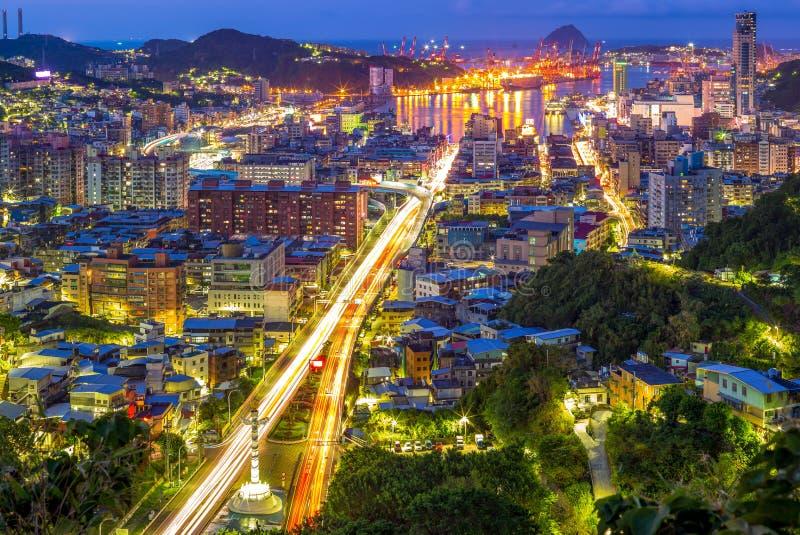 Paisaje urbano de keelung, Taiwán foto de archivo libre de regalías