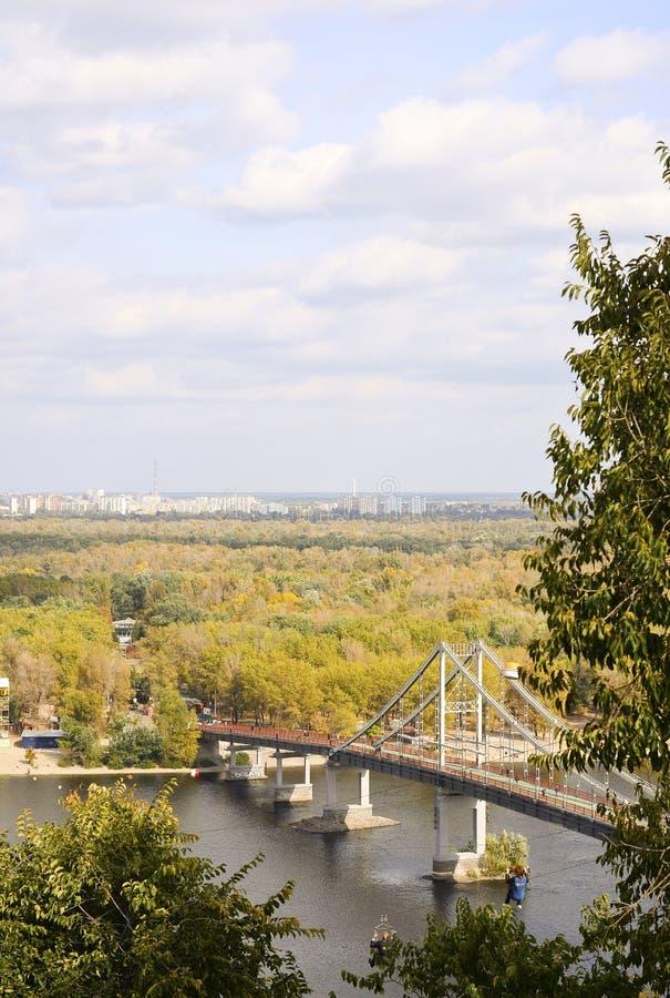 Paisaje urbano de Kiev foto de archivo libre de regalías