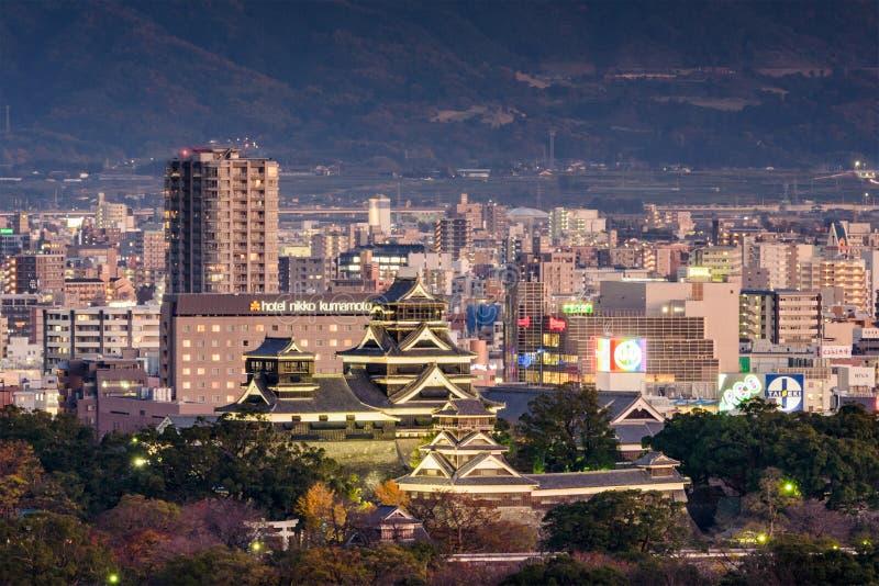 Paisaje urbano de Kumamoto foto de archivo libre de regalías
