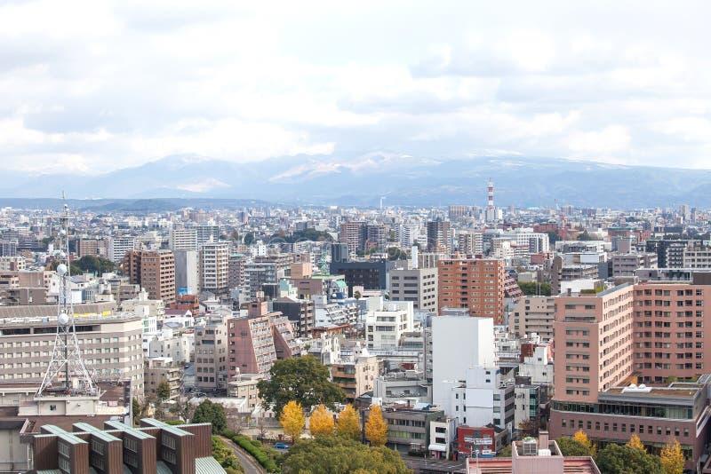 Paisaje urbano de Kumamoto en Japón imagen de archivo