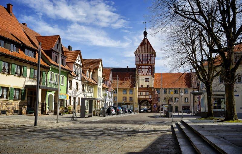 Paisaje urbano de la ciudad de Braunlingen Schwarzwald Alemania fotografía de archivo libre de regalías