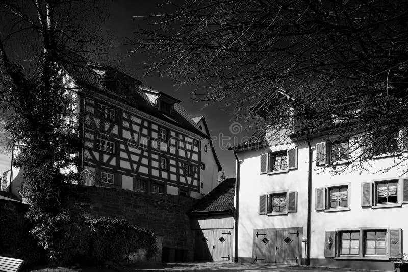 Paisaje urbano de la ciudad de Braunlingen Schwarzwald Alemania fotografía de archivo