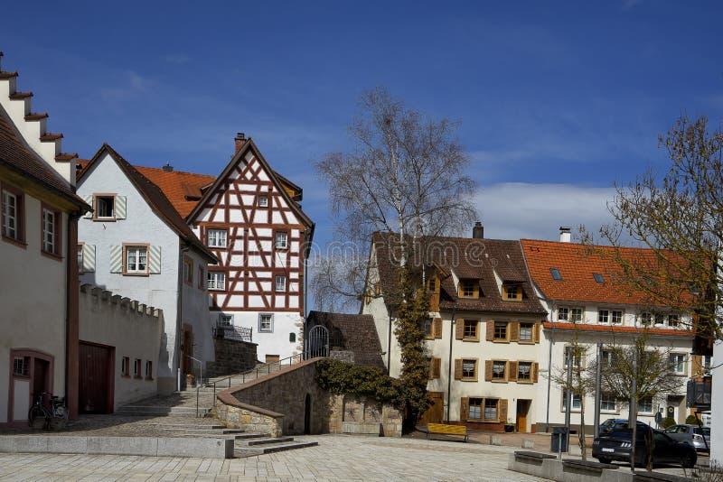 Paisaje urbano de la ciudad de Braunlingen Schwarzwald Alemania imagenes de archivo