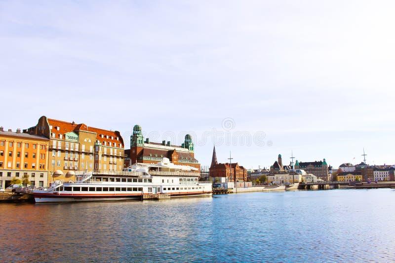 Paisaje urbano de la ciudad de Malmö, Suecia fotos de archivo