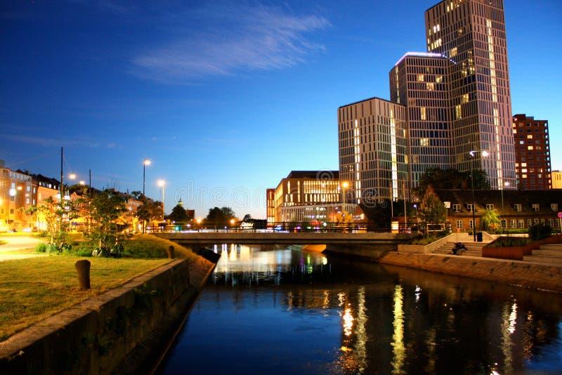 Paisaje urbano de la ciudad de Malmö, Suecia foto de archivo libre de regalías
