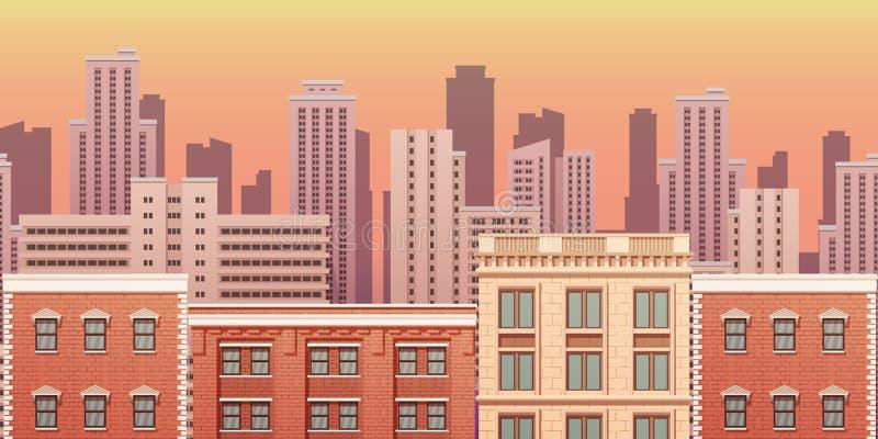 Paisaje urbano de la ciudad Ejemplo aislado eps10 del vector ilustración del vector