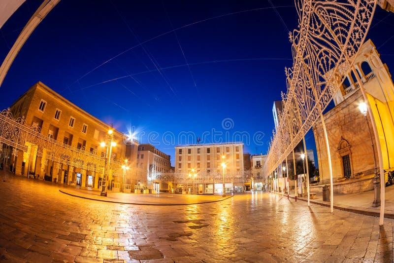 Paisaje urbano de Lecce - Italia fotos de archivo libres de regalías