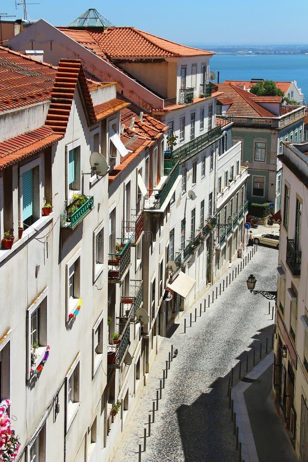 Paisaje urbano de Lisboa, Portugal fotografía de archivo libre de regalías