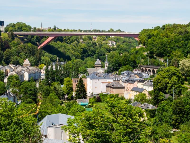 Paisaje urbano de Luxemburgo fotos de archivo libres de regalías