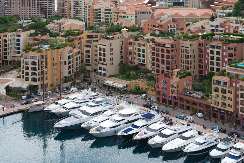 Paisaje urbano de Mónaco imagen de archivo libre de regalías