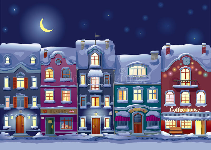 Paisaje urbano de medianoche libre illustration