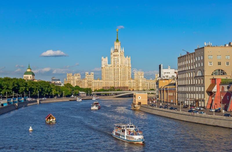 Paisaje urbano de Moscú imagenes de archivo