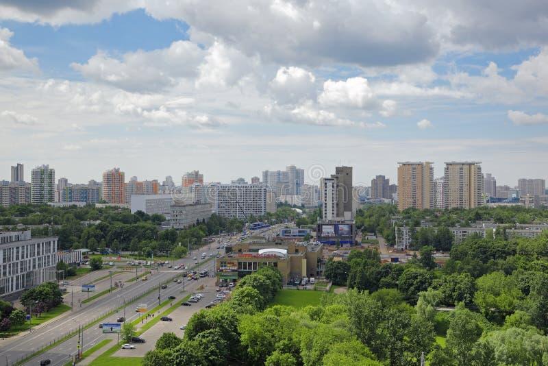 Paisaje urbano de Moscú fotografía de archivo libre de regalías