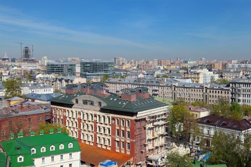 Paisaje urbano de Moscú fotos de archivo