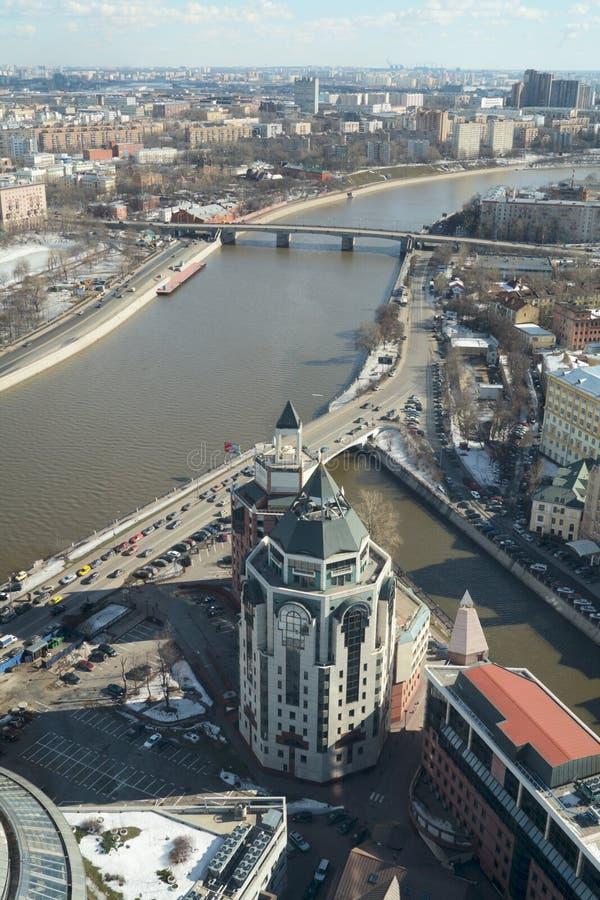 Paisaje urbano de Moscú en un día claro fotos de archivo libres de regalías