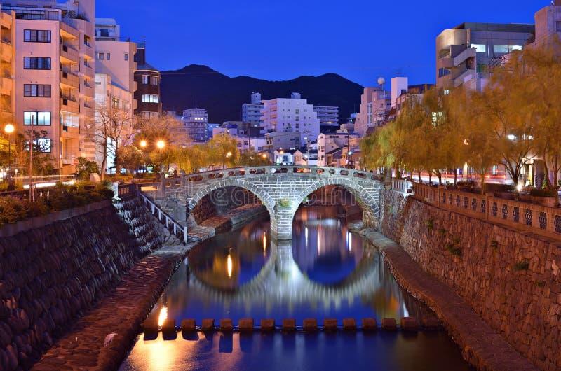 Paisaje urbano de Nagasaki imagenes de archivo