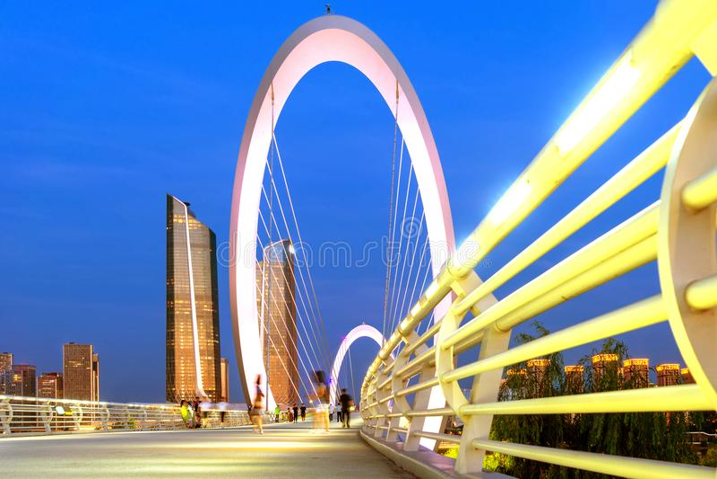 Paisaje urbano de Nanjing, China imagenes de archivo