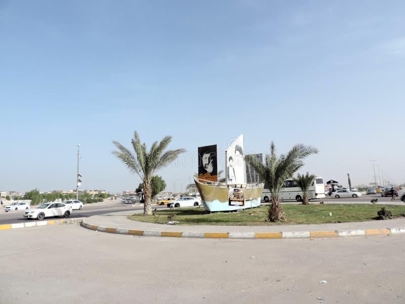 Paisaje urbano de Nayaf, Iraq foto de archivo libre de regalías
