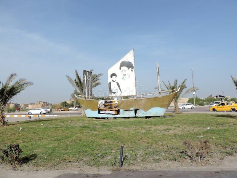 Paisaje urbano de Nayaf, Iraq imagenes de archivo