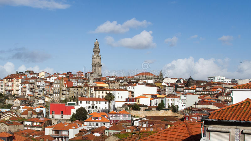 Paisaje urbano de Oporto fotos de archivo