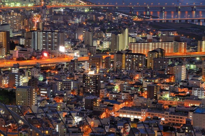 Paisaje urbano de Osaka foto de archivo