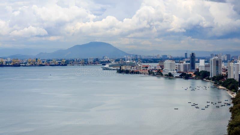 Paisaje urbano de Penang imagen de archivo libre de regalías