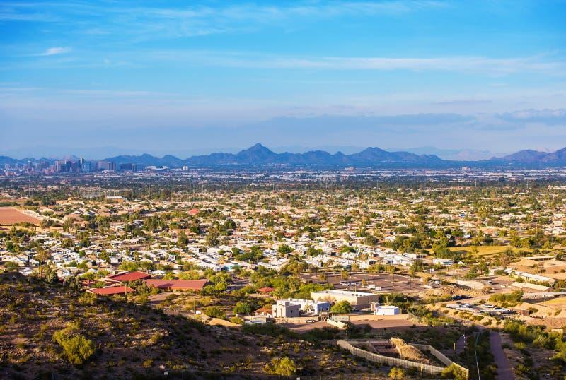Paisaje urbano de Phoenix fotos de archivo libres de regalías