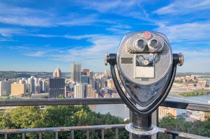 Paisaje urbano de Pittsburgh Pennsylvania foto de archivo libre de regalías