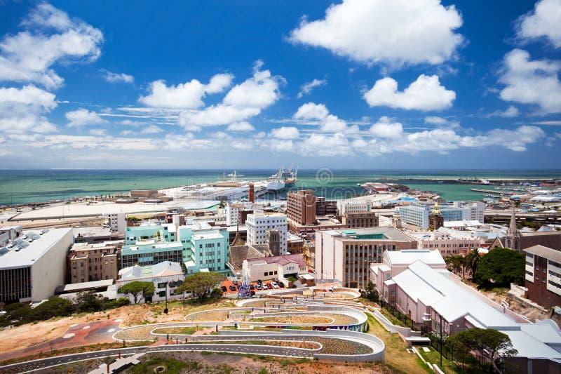 Paisaje urbano de Port Elizabeth fotos de archivo libres de regalías