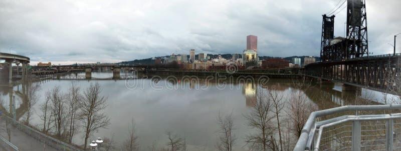 Paisaje urbano de Portland fotografía de archivo