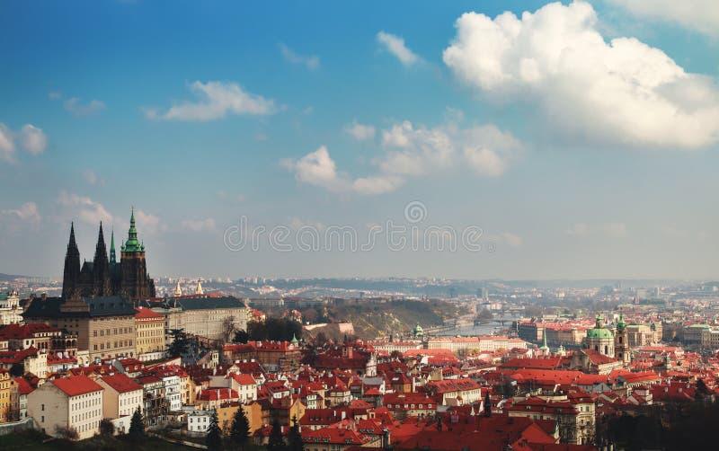 Paisaje urbano de Praga imágenes de archivo libres de regalías