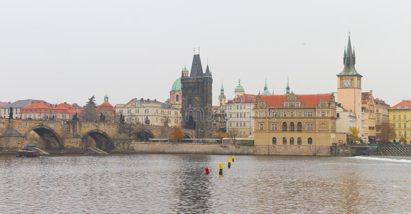 Paisaje urbano de Praga foto de archivo