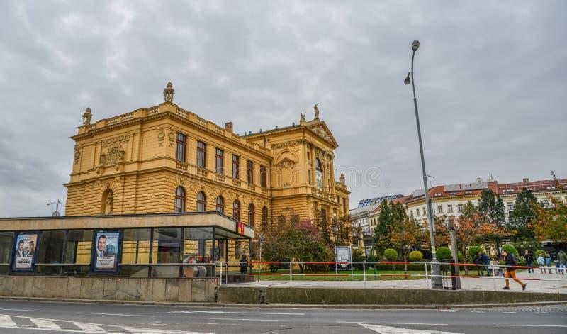 Paisaje urbano de Praga, Czechia fotos de archivo
